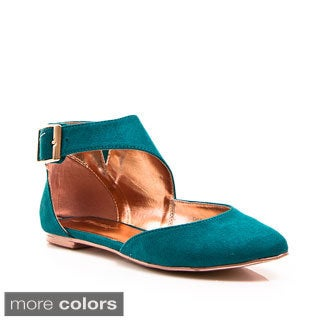 Gomax Women's 'Giulia 29N' Pointed-Toe D'Orsay Buckled Flats