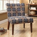 Multicolor Lattice Circle Upholstered Accent Chair