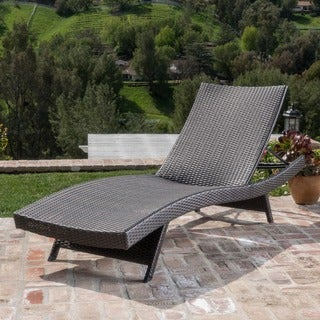 Christopher Knight Home Toscana Outdoor Brown Wicker Lounge