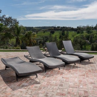 Christopher Knight Home Toscana Outdoor Brown Wicker Lounge (Set of 4)