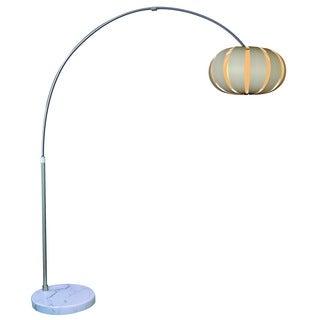 Pique 1-light Brushed Nickel Arc Floor Lamp