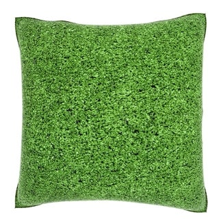 Abstract Fake Grass 18-inch Velour Throw Pillow