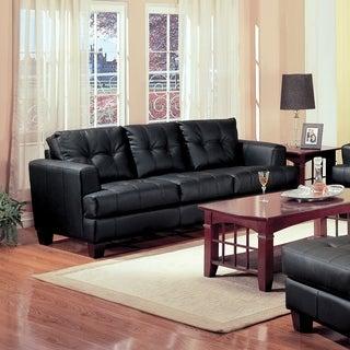 Samuel Contemporary Bonded Leather Sofa