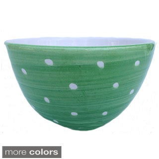 Hand-painted 'Pallini' Polka Dot Cerial/Soup Bowl (Italy)