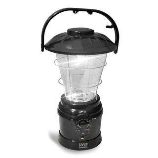 Pyle Multi-function Black AM/FM Radio Hand Crank Torch Lantern