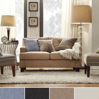 INSPIRE Q Elston Linen Sloped Track Loveseat