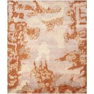 Safavieh Hand-knotted Santa Fe Rust/ Multi Wool Rug (9' x 12')