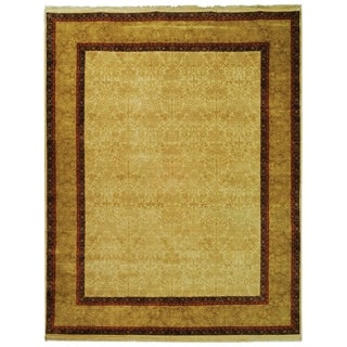 Safavieh Hand-knotted Ganges River Ivory/ Gold Wool Rug (6' x 9')