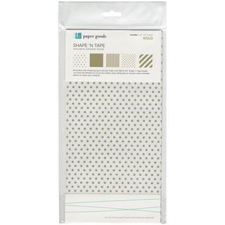 Shape 'n Tape Washi Sheets 6 X12 5/Pkg - Gold