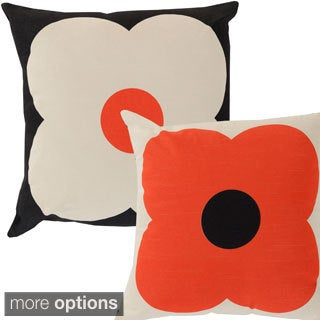 Orla Kiely Floral 18-inch Reversible Decorative Down or Poly Fill Pillow