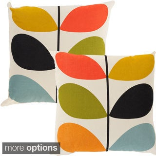 Orla Kiely Stem 18-inch Reversible Decorative Down or Poly Fill Throw Pillow