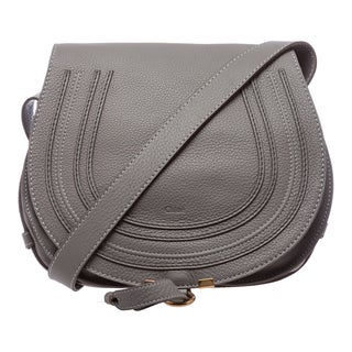 Chloe 'Marcie' Medium Cashmere Grey Round Crossbody