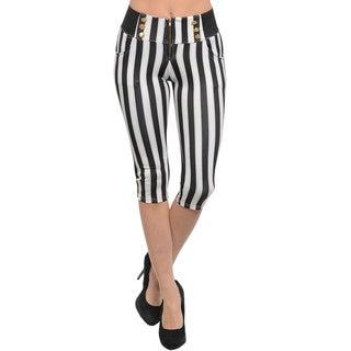 Shop The Trends Women's Striped Capri Pants
