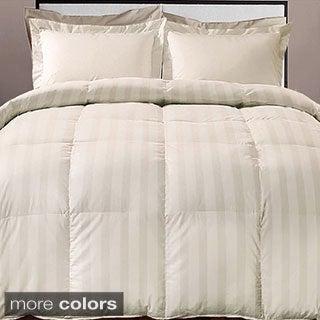 Hotel Grand Damask Stripe 800 Thread Count Cotton Rich Down Alternative Comforter