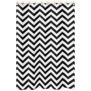 Sweet Jojo Designs Black/ White Chevron Zigzag Shower Curtain