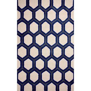 nuLOOM Hand-tufted Trellis Wool Blue Rug (8' 6 x 11' 6 )