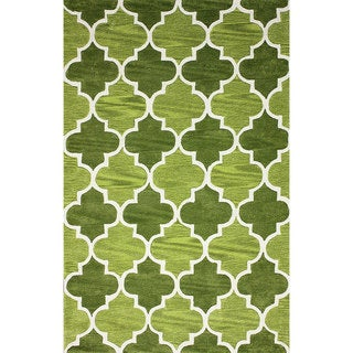 nuLOOM Hand-tufted Moroccan Trellis Green Rug (8' 6 x 11' 6)