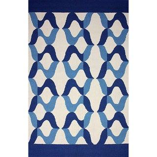 nuLOOM Hand-hooked Indoor/ Outdoor Blue Rug (7' 6 x 9' 6)