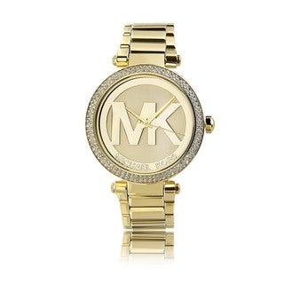 Michael Kors Women's MK5784 'Parker' Goldtone Crystal Accent Watch