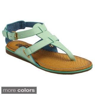 Jacobies Women's 'Karen-7' Gladiator Thong Sandals