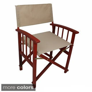 International Caravan Stained Acacia Mission Style Directors Chairs (Set of 2)