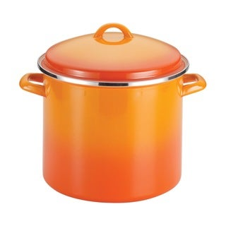 Rachael Ray Enamel on Steel 12-quart Orange Gradient Covered Stockpot