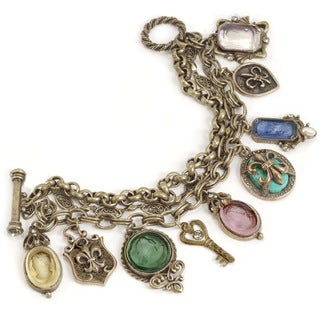 Sweet Romance Intaglio Fleur Charm Fashion Bracelet