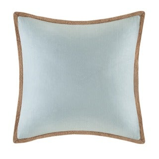 Madison Park Linen with Jute Trim Square or Oblong Down Fill Pillows