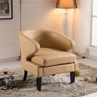 Arbonni Modern Light Brown Accent Chair