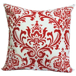 Taylor Marie Lipstick Red/ White Damask Pillow Cover