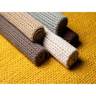 Hand Woven Hale Contemporary Solid Braided New Zealand Wool Area Rug (8' x 10')