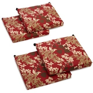 Blazing Needles 20x19-inch Spun Polyester Outdoor Chair Cushions (Set of 4)