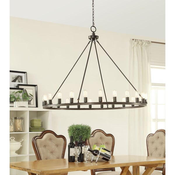 Hemsworth Oil Rubbed Bronze 24 Light Chandelier