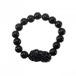 Handmade Black Obsidian Blessing Animal Stretch Bracelet (China)