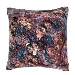 Maxwell Dickson Red Rock Texture 18-inch Velour Throw Pillow