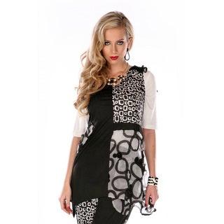 Women's Mixed Patchwork Print Sleeveless Tunic
