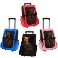 Oxgord Cat/ Dog Comfort Travel Portable Rolling Backpack