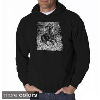 Los Angeles Pop Art Men's Horse Breeds Sweatshirt