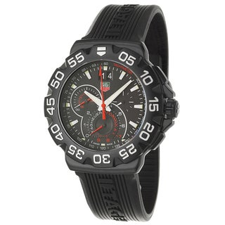Tag Heuer Men's CAH1012-FT6026 'Formula' Black Stainless Steel Chronograph Tachymeter Watch
