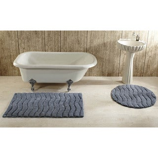 Indulgence Cut and Sculpted Cotton Tufted Bath Rug