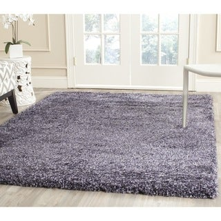 Safavieh New York Shag Purple/ Purple Rug (8'6 x 12')