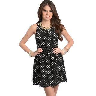 Shop The Trends Women's Fancy Sleeveless Flare Dress