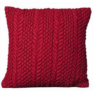 Mina Victory 20-inch Square Red Felt Throw Pillow