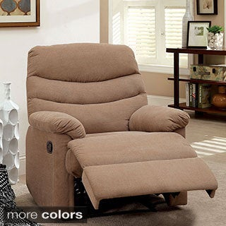 Furniture of America Dabury Brown Flannelette Recliner