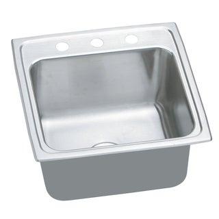 Elkay Gourmet Lustertone Stainless Steel Top Mount Sink