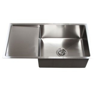 Stainless Steel 15mm Radius 36-inch Single Bowl Undermount Sink