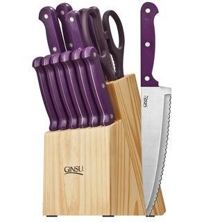 Ginsu Essentials Series 14-piece Purple Cutlery Set