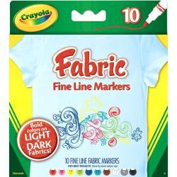 Crayola Fine Line Fabric Markers 10/Pkg -