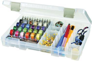 ArtBin Sew-Lutions Bobbin & Supply Box - 10.75 X7.375 X1.75 Translucent