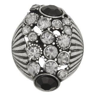 Kate Marie Fashion Jewelry 'Lori' Rhinestone Adjustable Ring